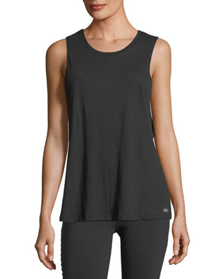 Alo Yoga Cotton-Blend Tidal Muscle Tank
