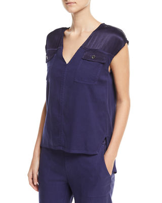 Image 1 of 4: Santucci Twill Top, Plus Size