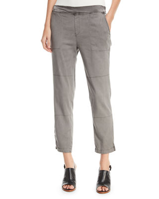 XCVI SANTUCCI STRETCH TWILL PANTS, PLUS SIZE