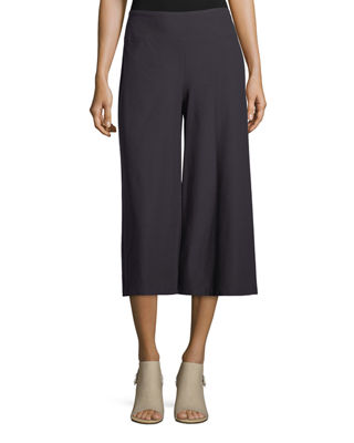 Eileen Fisher Crepe Culottes w/ Yoke and Matching