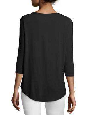 Soft Touch Boat-Neck Top