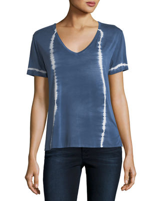 Majestic Paris for Neiman Marcus Tie-Dye Short-Sleeve Top