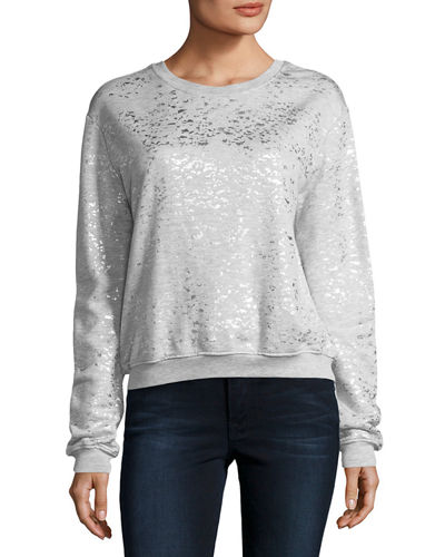 Metallic-Speckled Sweatshirt