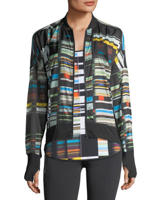Image 1 of 5: Featherweight Stripe-Print Jacket