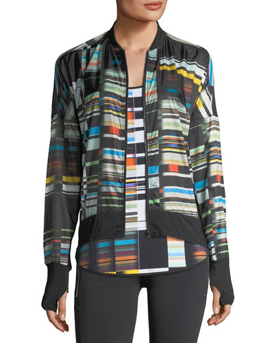 Featherweight Stripe-Print Jacket