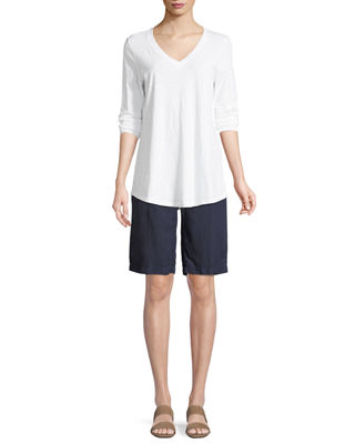 Image 3 of 3: Tencel® Linen Walking Shorts