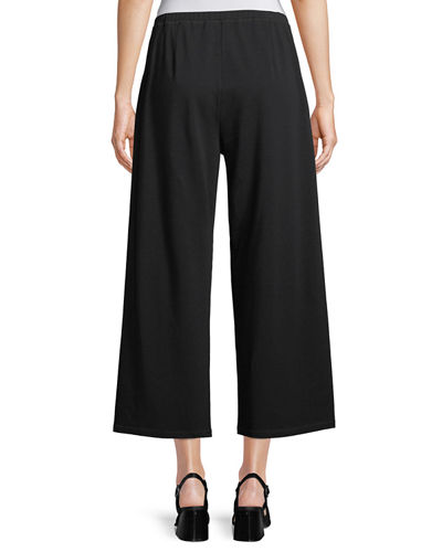 Stretch jersey Cropped Easy Pants, Petite
