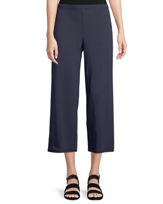 Eileen Fisher Stretch jersey Cropped Easy Pants, Petite