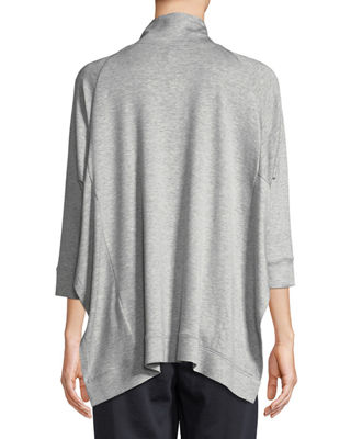 Image 2 of 3: Stretch Terry Funnel-Neck Top