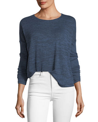 Amelie Scoop-Neck Long-Sleeve Tee