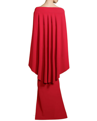 Mahima Capelet Mermaid Cutout Gown