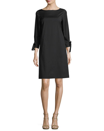 Paige 3/4-Sleeve Jersey Dress, Plus Size