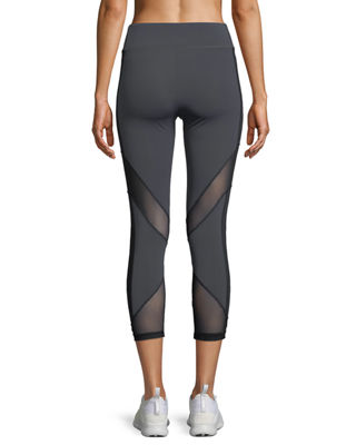 Image 2 of 2: Nuria Cropped Performance Leggings with Mesh Inserts