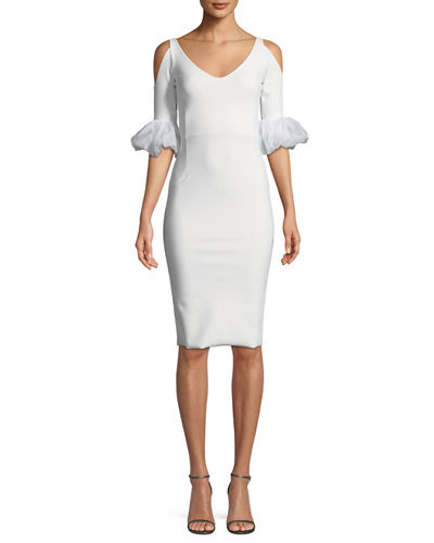 Dress for Women, Evening Cocktail Party On Sale, White, Viscose, 2017, 12 Guess