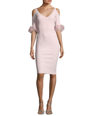 Chiara Boni La Petite Robe Fabrizia Cold-Shoulder V-Neck