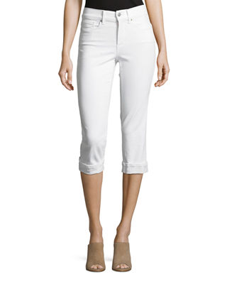NYDJ Marilyn Cropped Denim Jeans with Rolled Cuffs