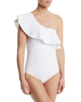 Karla Colletto Zaha One-Shoulder One-Piece Swimsuit