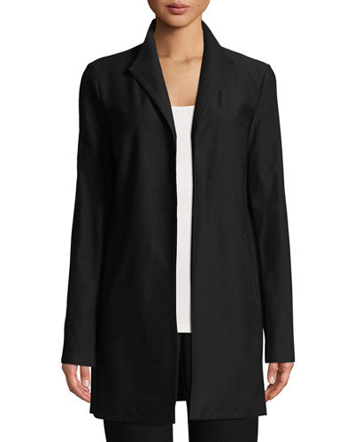Eileen Fisher Long Washable Stretch Crepe Jacket