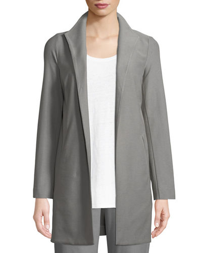 Long Washable Stretch Crepe Jacket