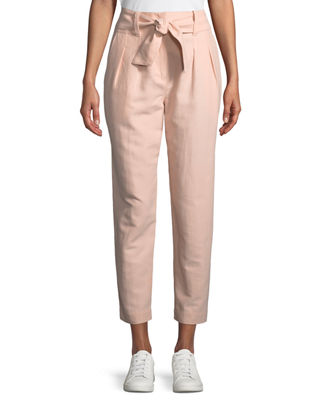 Joie Jun Straight-Leg Cotton-Linen Pants