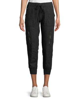 Joie Florimel Six-Pocket Linen Jogger Pants