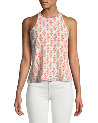 Joie Brighton E Sleeveless Silk Racerback Top