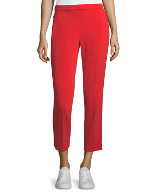 Admiral Crepe Straight-Leg Basic Pull-On Pant