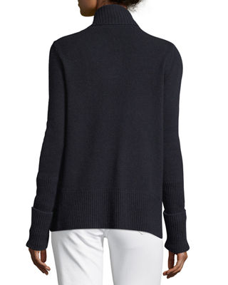 Image 3 of 4: Cashmere Wide-Collar Cardigan Sweater