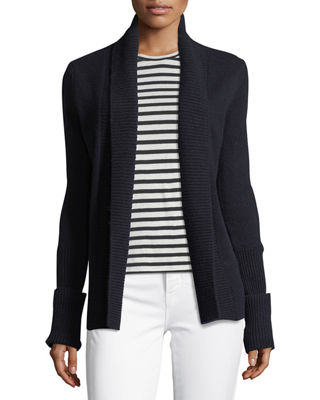Image 1 of 4: Cashmere Wide-Collar Cardigan Sweater