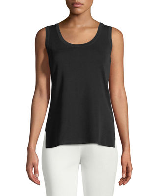 Double-Scoop Tank Top, Petite