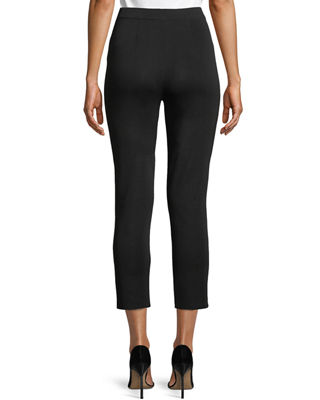 Image 2 of 3: Slim-Leg Knit Ankle Pants, Plus Size
