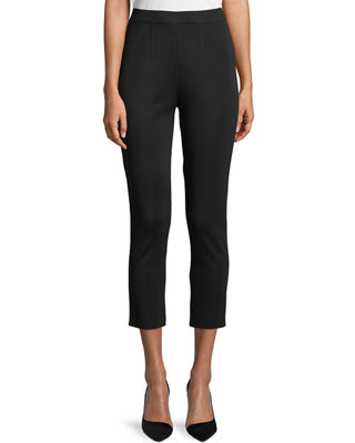 Slim-Leg Knit Ankle Pants, Plus Size
