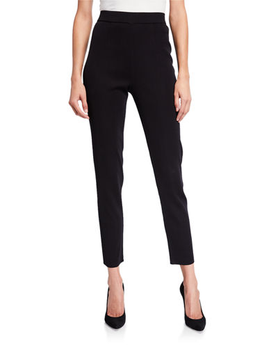 Slim-Leg Pull-on Ankle Pants