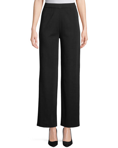 Misook Wide-Leg Knit Pull-On Pants