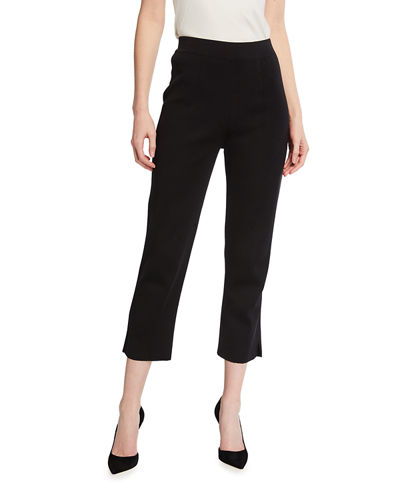 Slim-Leg Knit Ankle Pants