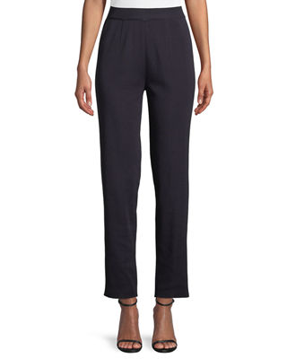 MISOOK Straight-Leg Knit Pull-On Pants, Plus Size in Navy