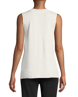 Image 2 of 2: Classic V-Neck Sleeveless Top