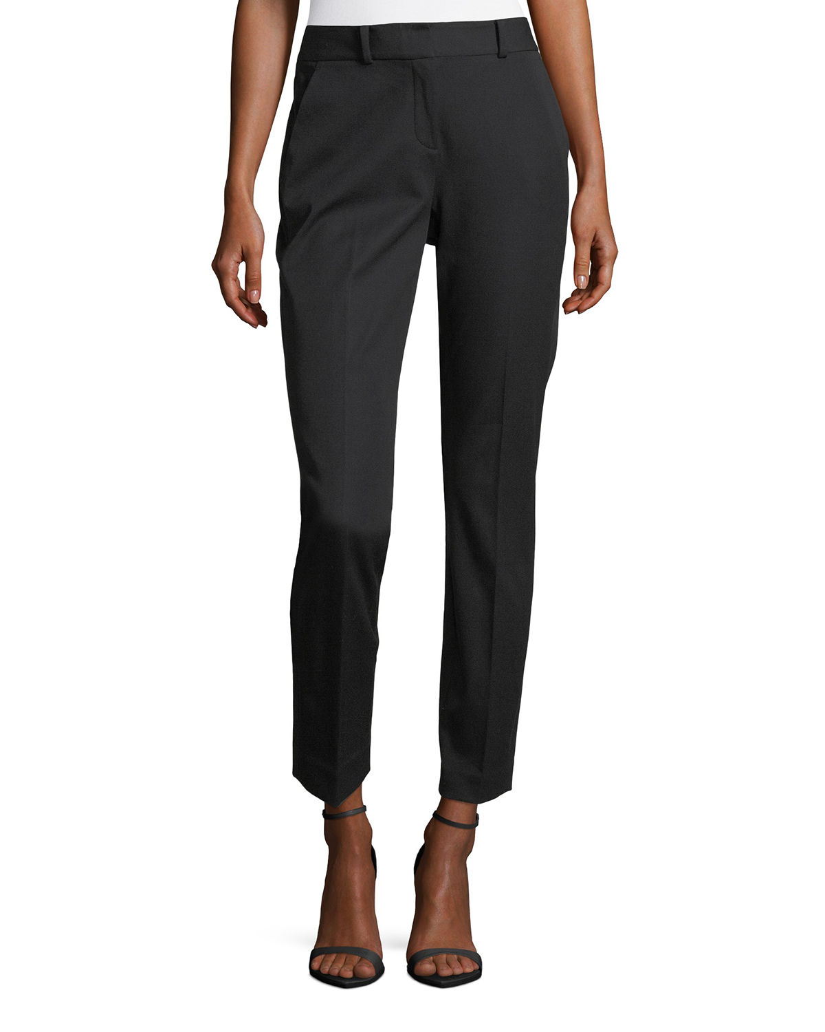 Alanis Cotton-Twill Ankle Pants