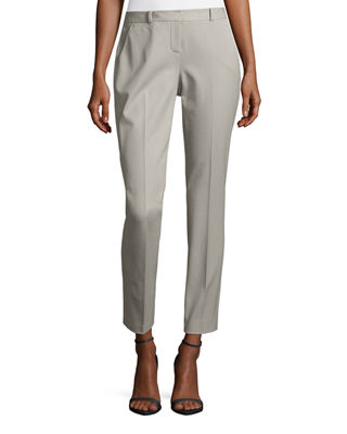 Elie Tahari Alanis Cotton-Twill Ankle Pants