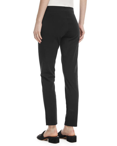 Lenny Front-Seam Skinny Ankle Pants