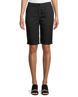 Eileen Fisher Mid-Rise Bermuda Shorts