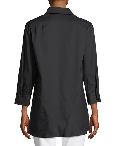 Trapeze 3/4-Sleeve Swing Shirt
