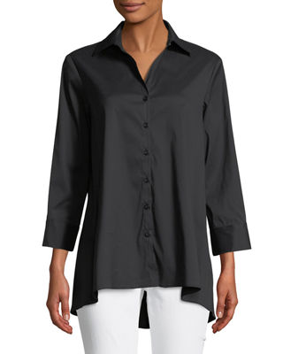 Finley Trapeze 3/4-Sleeve Swing Shirt