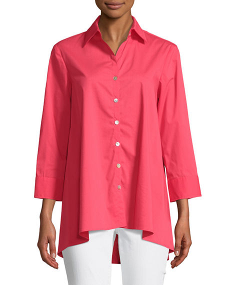 Finley TRAPEZE 3/4-SLEEVE SWING SHIRT, PLUS SIZE