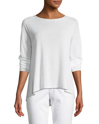 Sleek Seamless Jewel-Neck Top