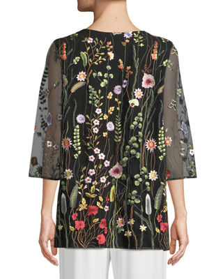 Image 2 of 2: Garden Walk Embroidered Layered Tunic, Plus Size