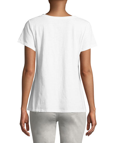 Slubby Organic Cotton V-Neck Tee