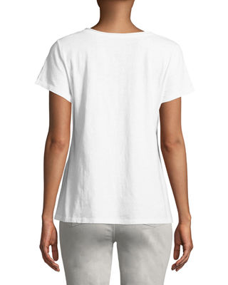 Image 2 of 2: Slubby Organic Cotton V-Neck Tee, Plus Size