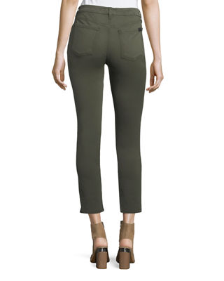 Image 3 of 4: Brushed Sateen Skinny Ankle Jeans