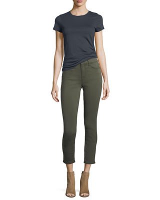 Image 4 of 4: Brushed Sateen Skinny Ankle Jeans